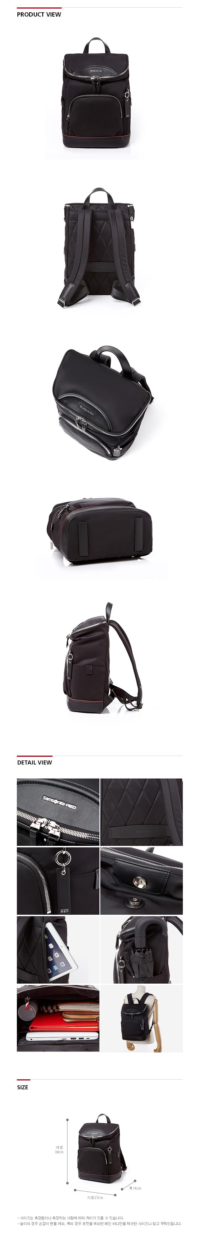 쌤소나이트 레드(SAMSONITE RED) ELTEAN 백팩 BLACK GU209001